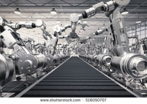 stock-photo--d-rendering-robotic-arms-with-empty-conveyor-belt-516050707